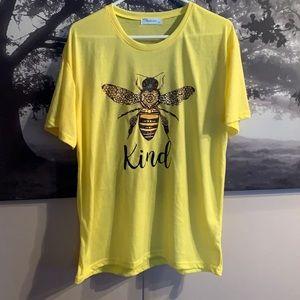Bee Kind yellow t shirt